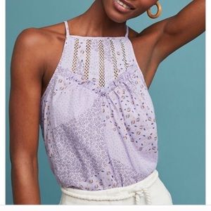 Maeve for Anthropologie purple martell top size L